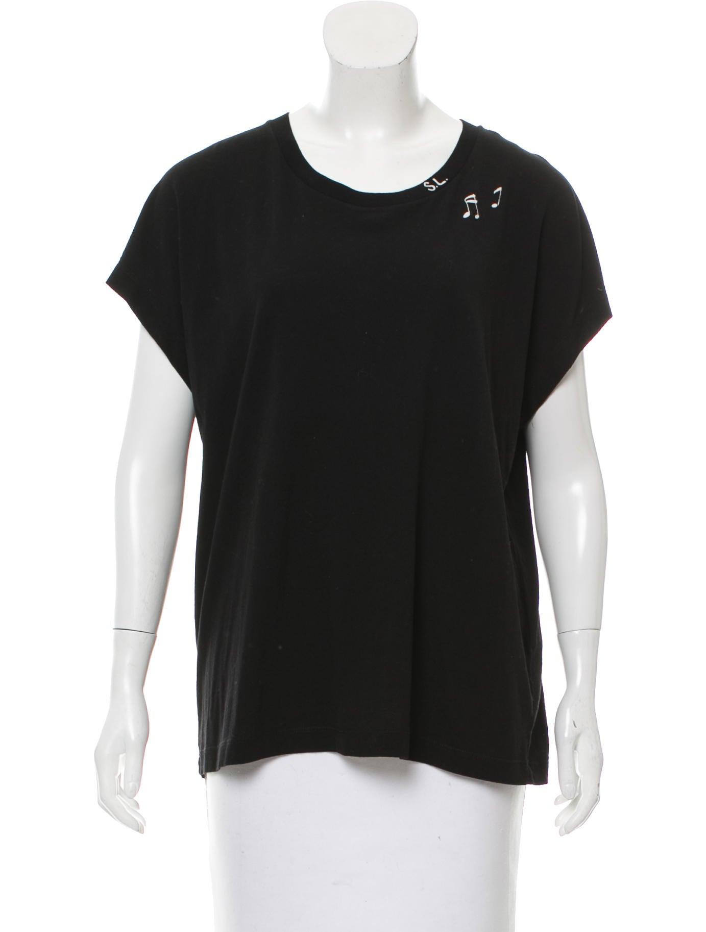 Saint laurent short sleeve graphic t shirt clothing for Saint laurent shirt womens