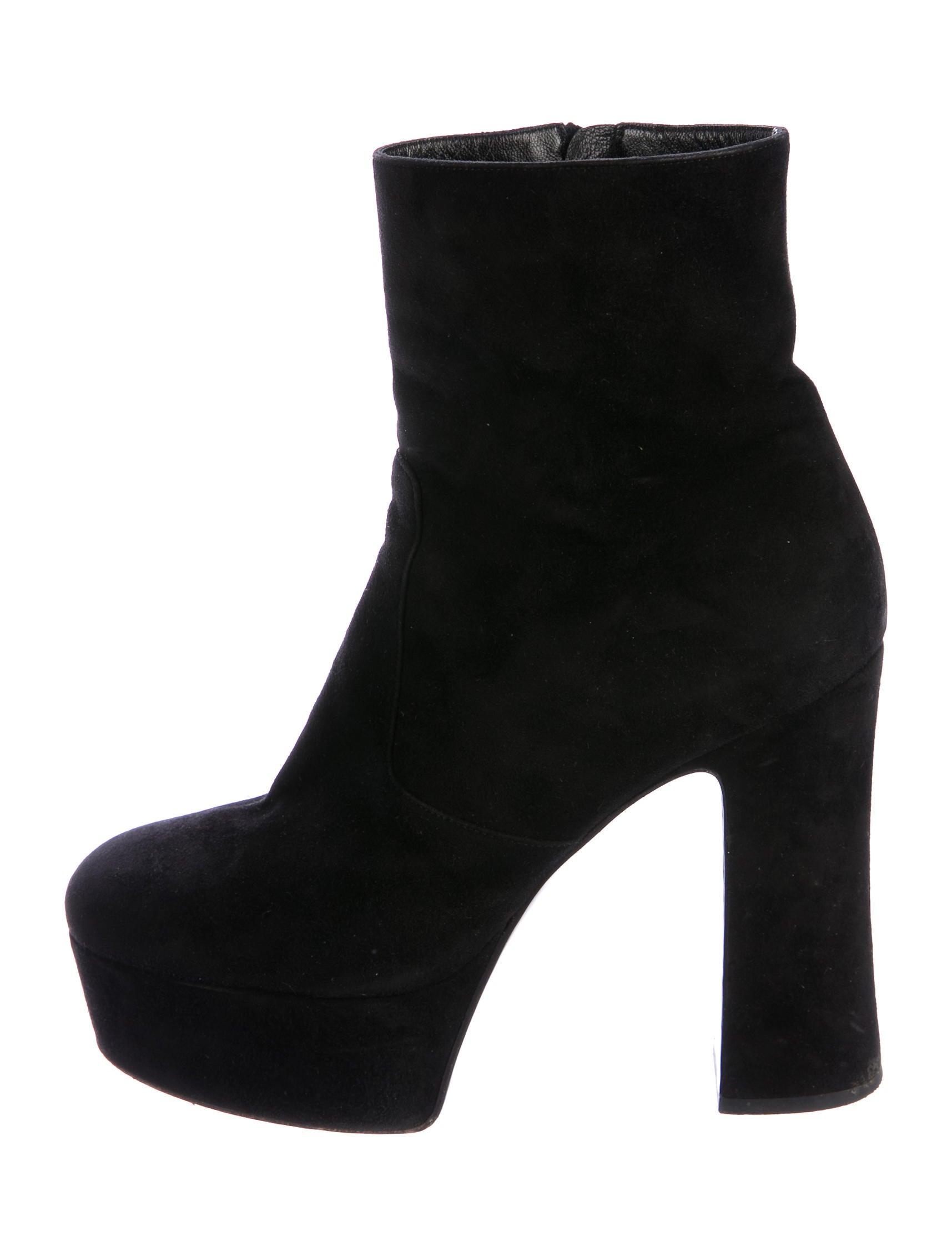 laurent suede platform ankle boots shoes
