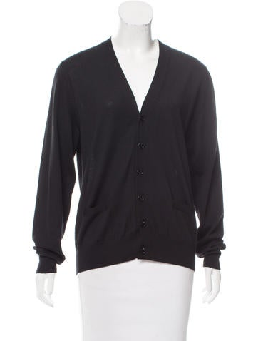 Saint Laurent Button-Up Long Sleeve Cardigan None