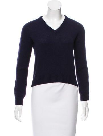 Saint Laurent Wool V-Neck Sweater None