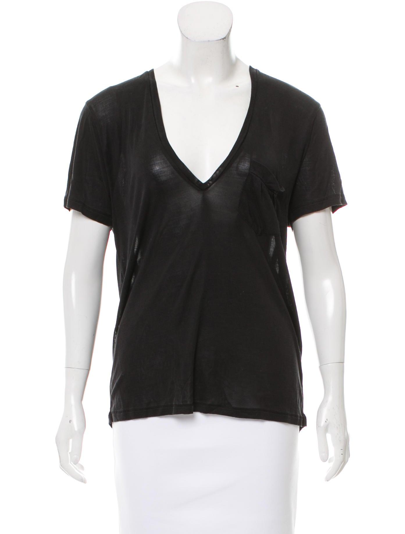 Saint Laurent Short Sleeve Silk T Shirt Clothing