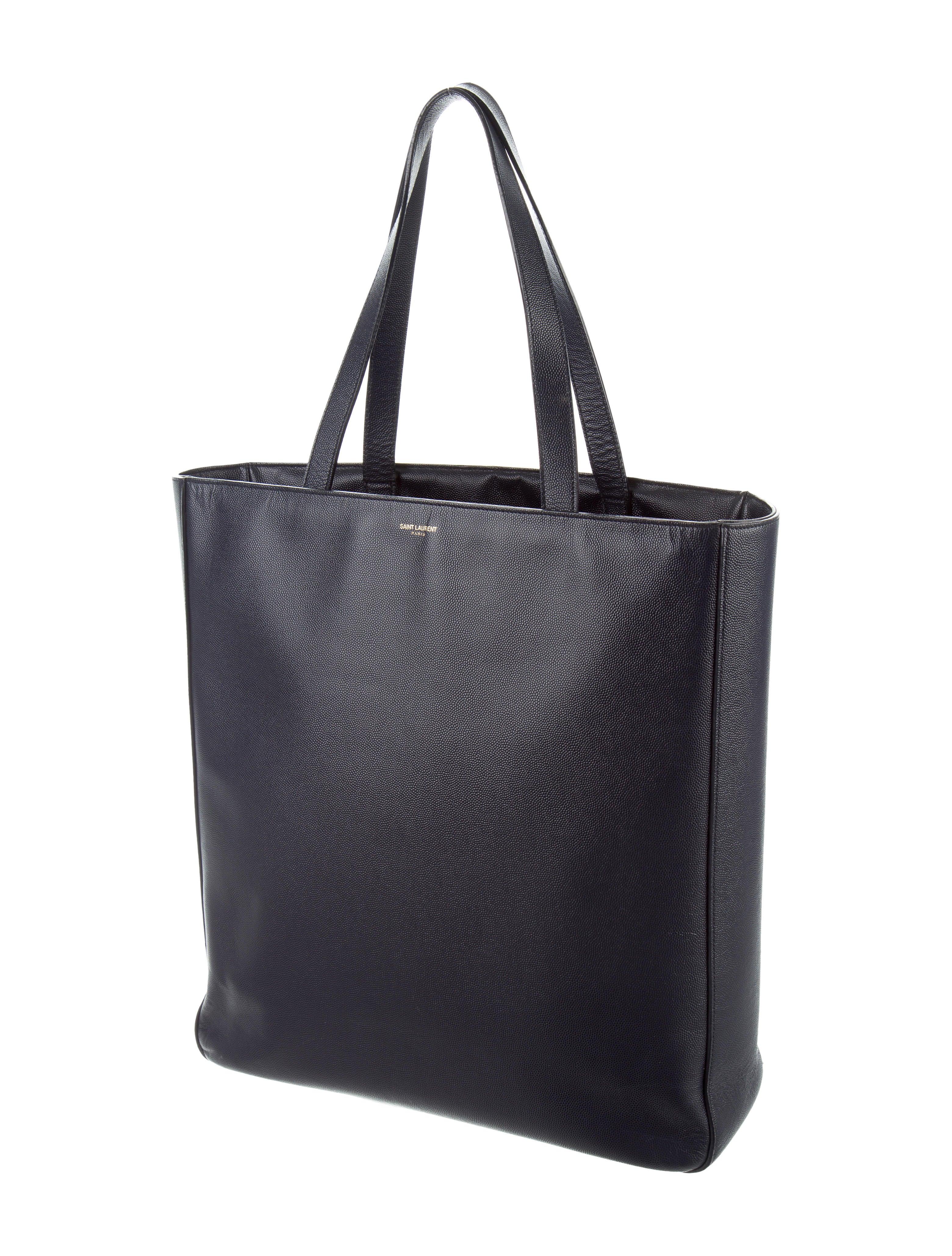 saint laurent leather shopper tote bags snt36959 the. Black Bedroom Furniture Sets. Home Design Ideas
