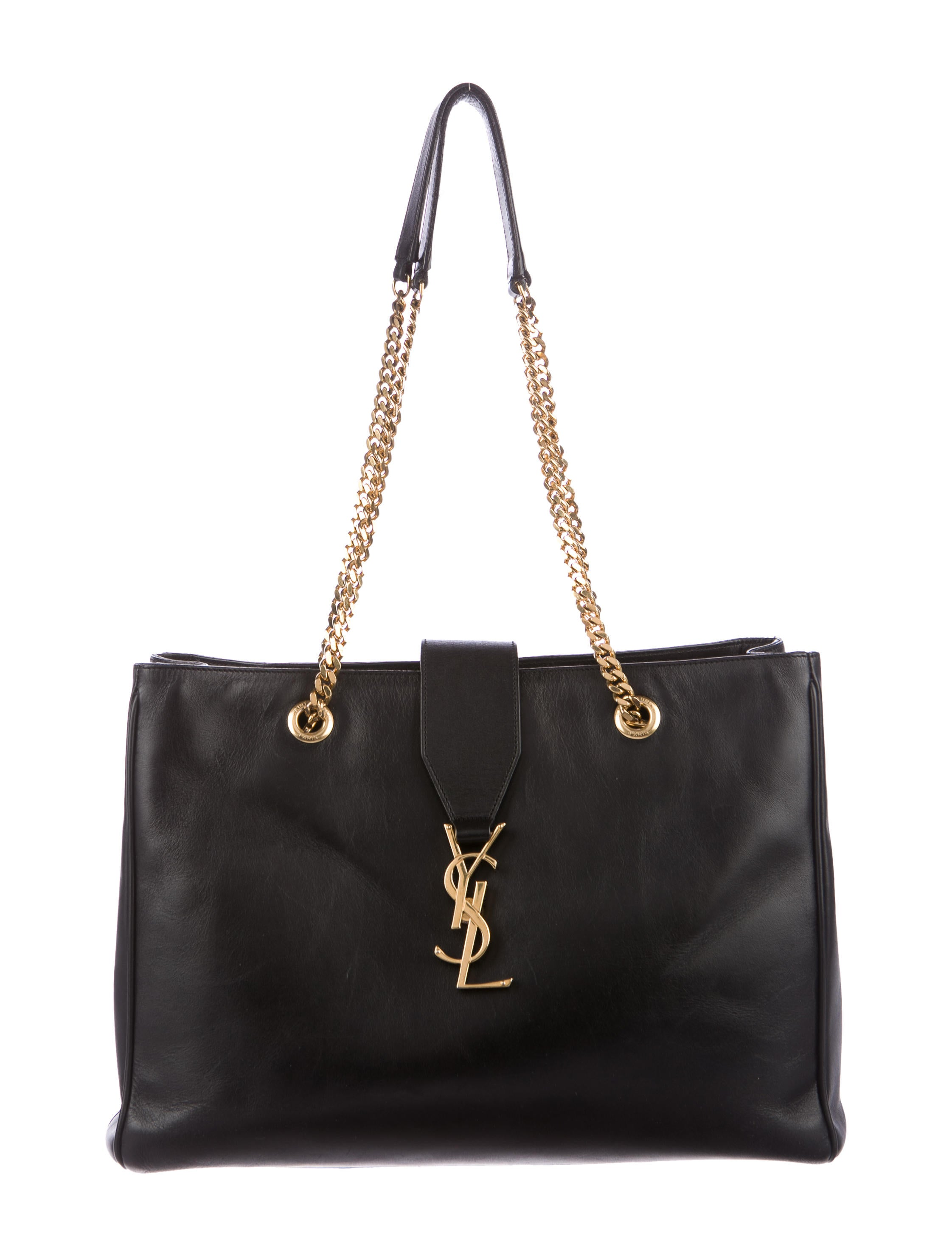 saint laurent monogram cassandre shopper tote handbags. Black Bedroom Furniture Sets. Home Design Ideas