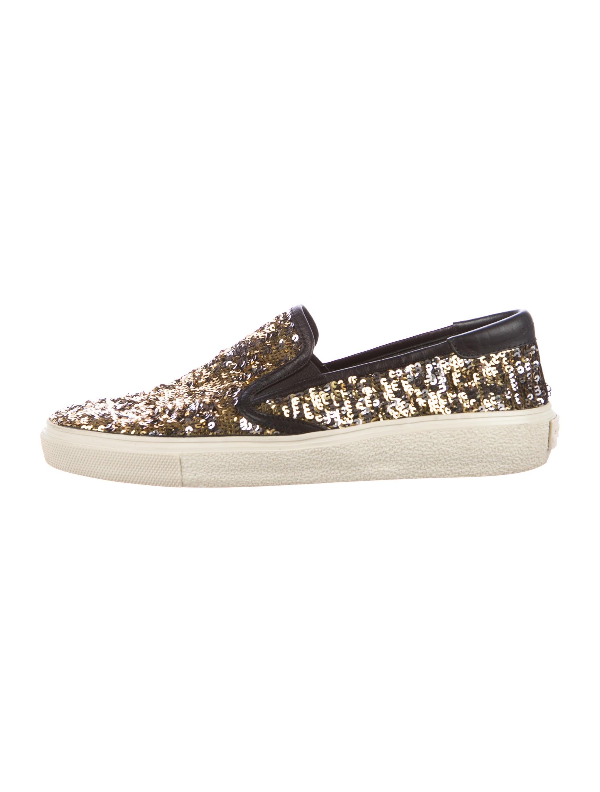 laurent sequin slip on sneakers shoes snt37138