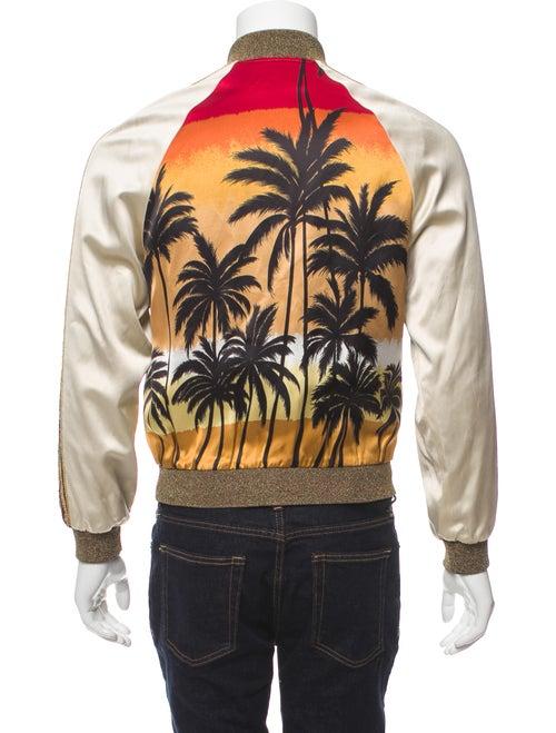 c3adad186ff Saint Laurent 2015 Palm Tree Print Bomber Jacket - Clothing ...