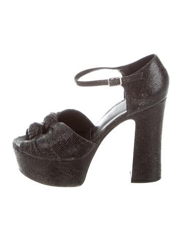 Saint Laurent Distressed Platform Sandals fashionable sale online discount codes clearance store new cheap online 100% original sale online cheap sale buy ymygStf4