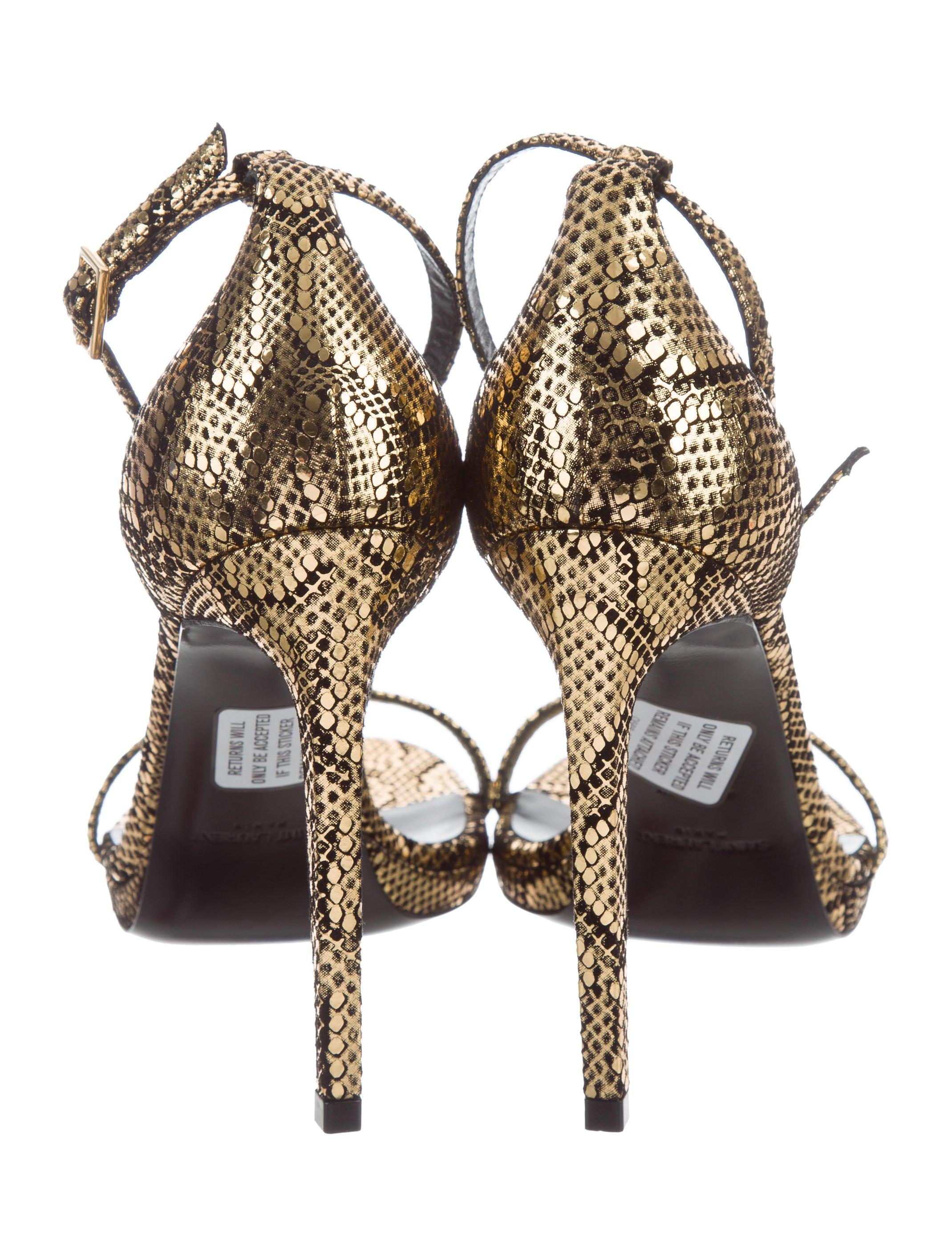 recommend cheap price Saint Laurent Janet Ankle Strap Sandals release dates sale online Dp910Q