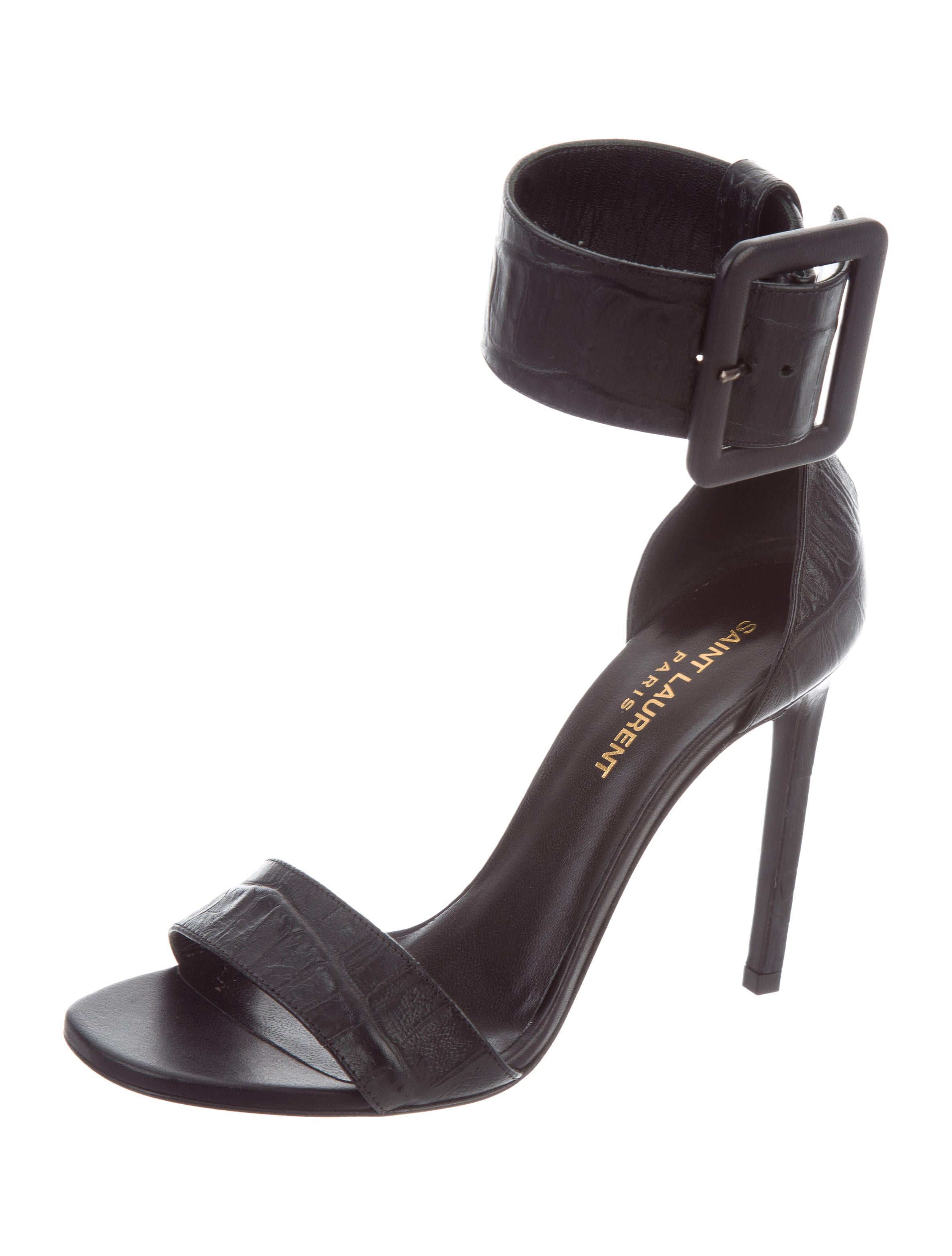 Saint Laurent Embossed Janet Sandals w/ Tags for sale for sale apveEXORrV