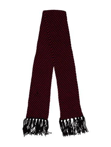 Saint Laurent Wool Fringe Scarf None