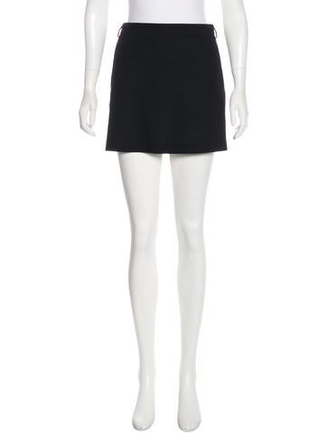 Saint Laurent Wool Mini Skirt by Saint Laurent