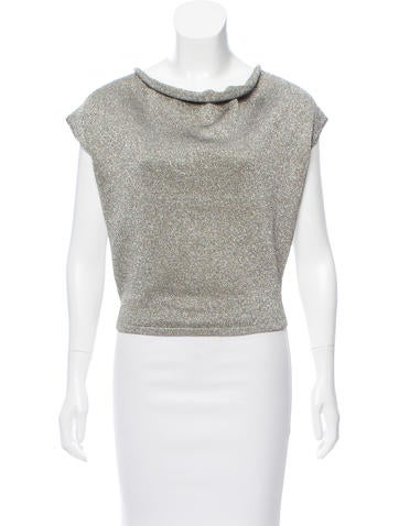 Saint Laurent Metallic Sleeveless Sweater None