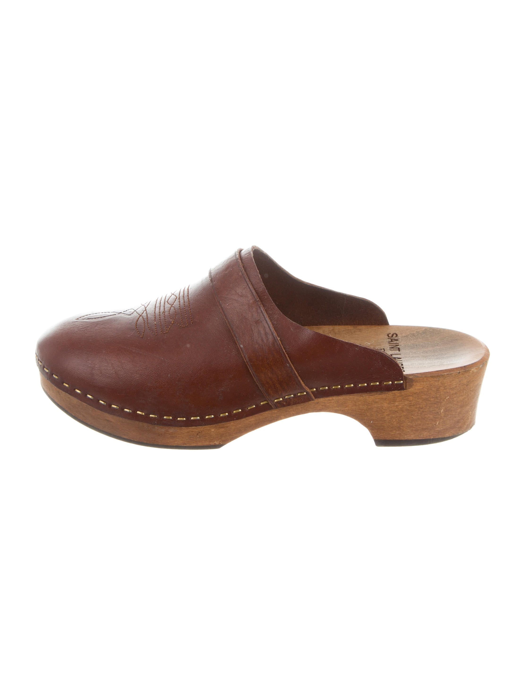 clearance clearance store Saint Laurent Leather Round-Toe Oxfords very cheap online XUrS0GeJV