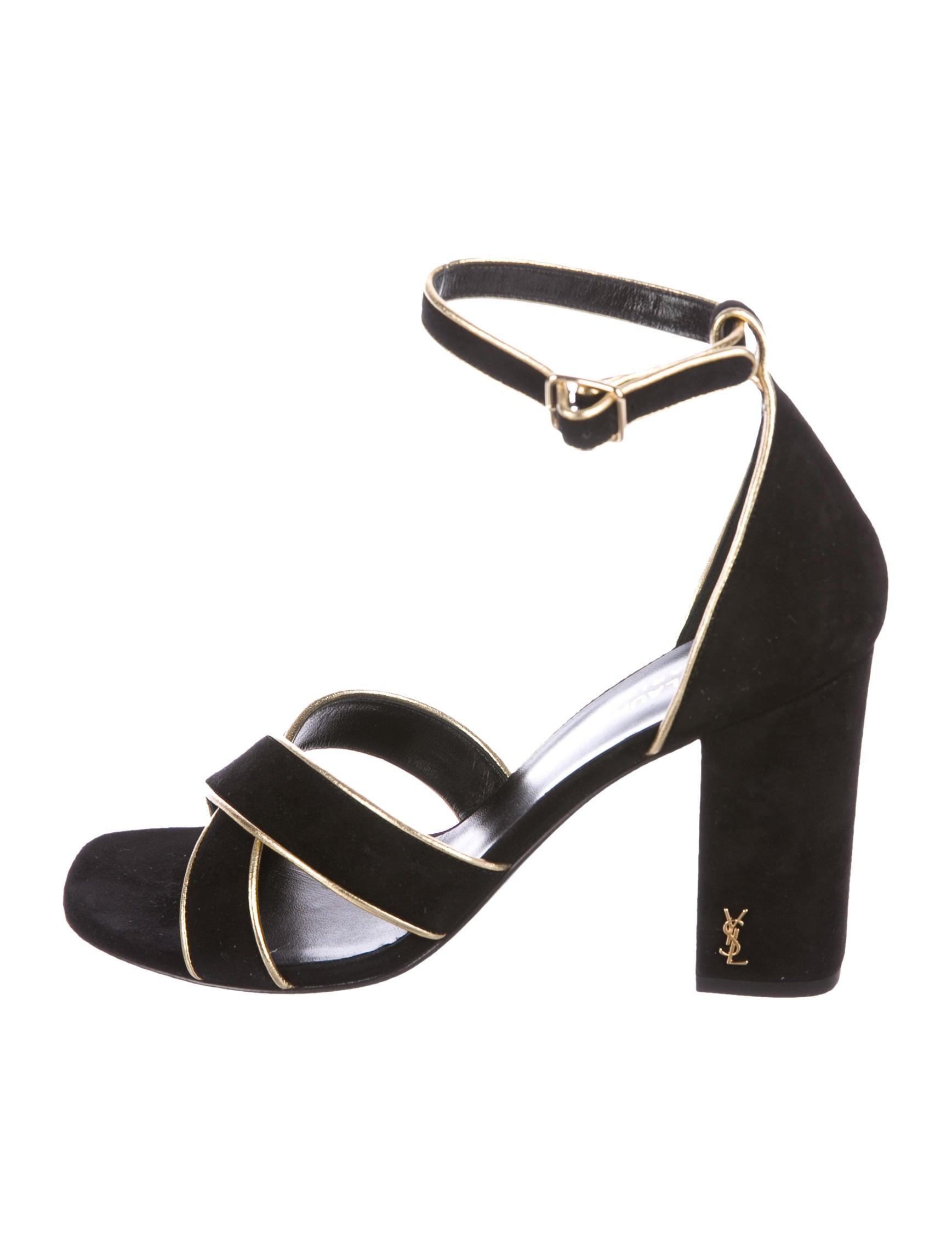 3de373d78959 Saint Laurent Babies Ankle Strap Sandals - Shoes - SNT42626