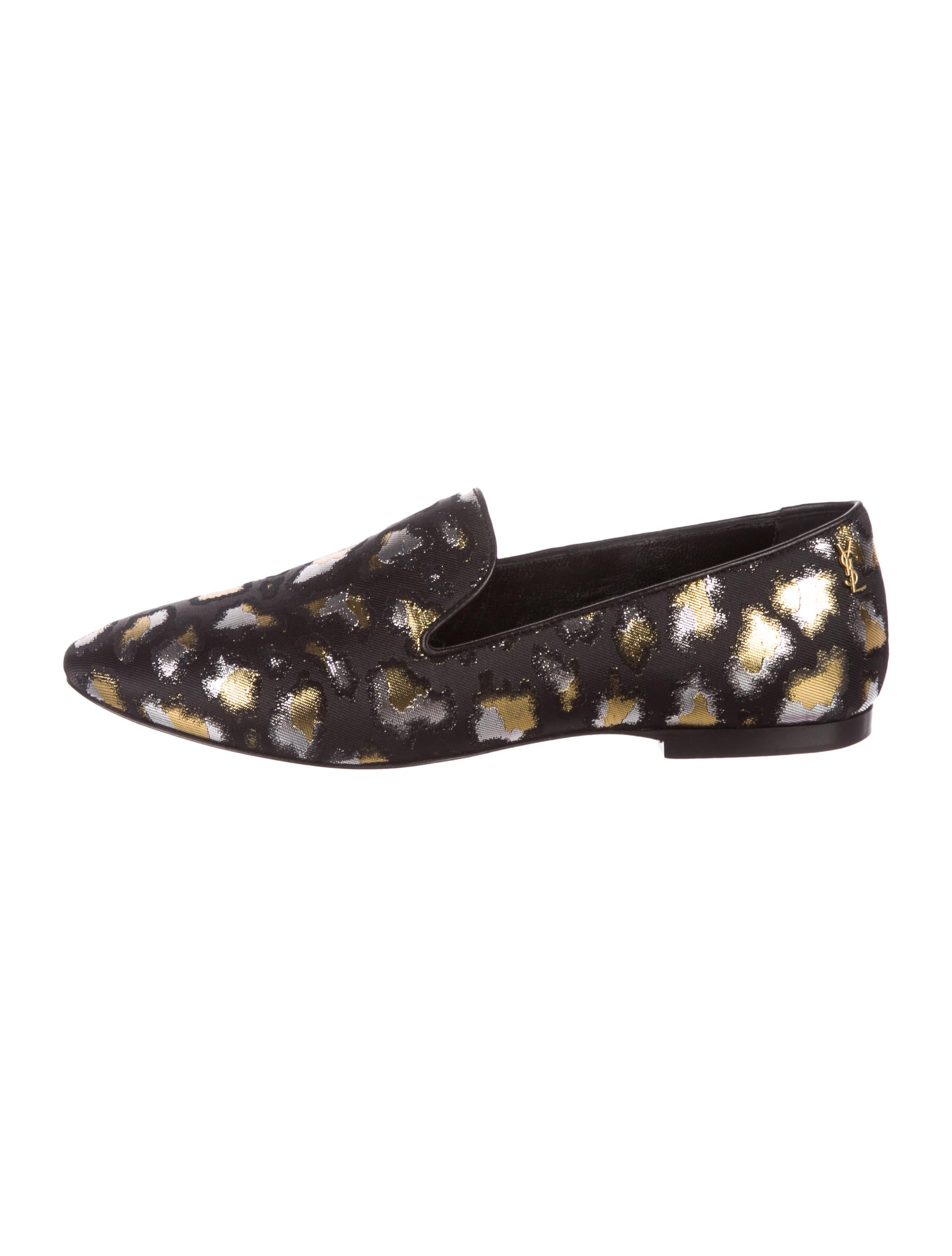 Saint Laurent Jacquard Logo Loafers cheap sale low shipping DNUyxmAA