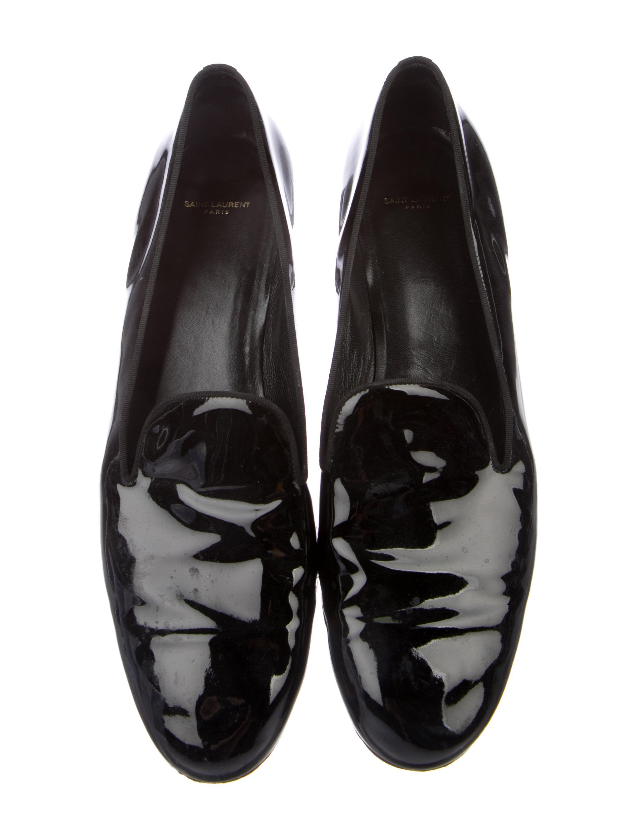 Saint Laurent Leather Round-Toe Loafers cheap fashion Style buy cheap 2015 clearance excellent cheap sale Cheapest cheapest 3DnNACW