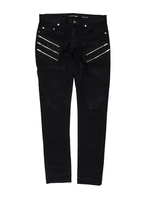 e9839f6c0dd Saint Laurent Zip-Accented D02 Skinny Jeans - Clothing - SNT48712 ...