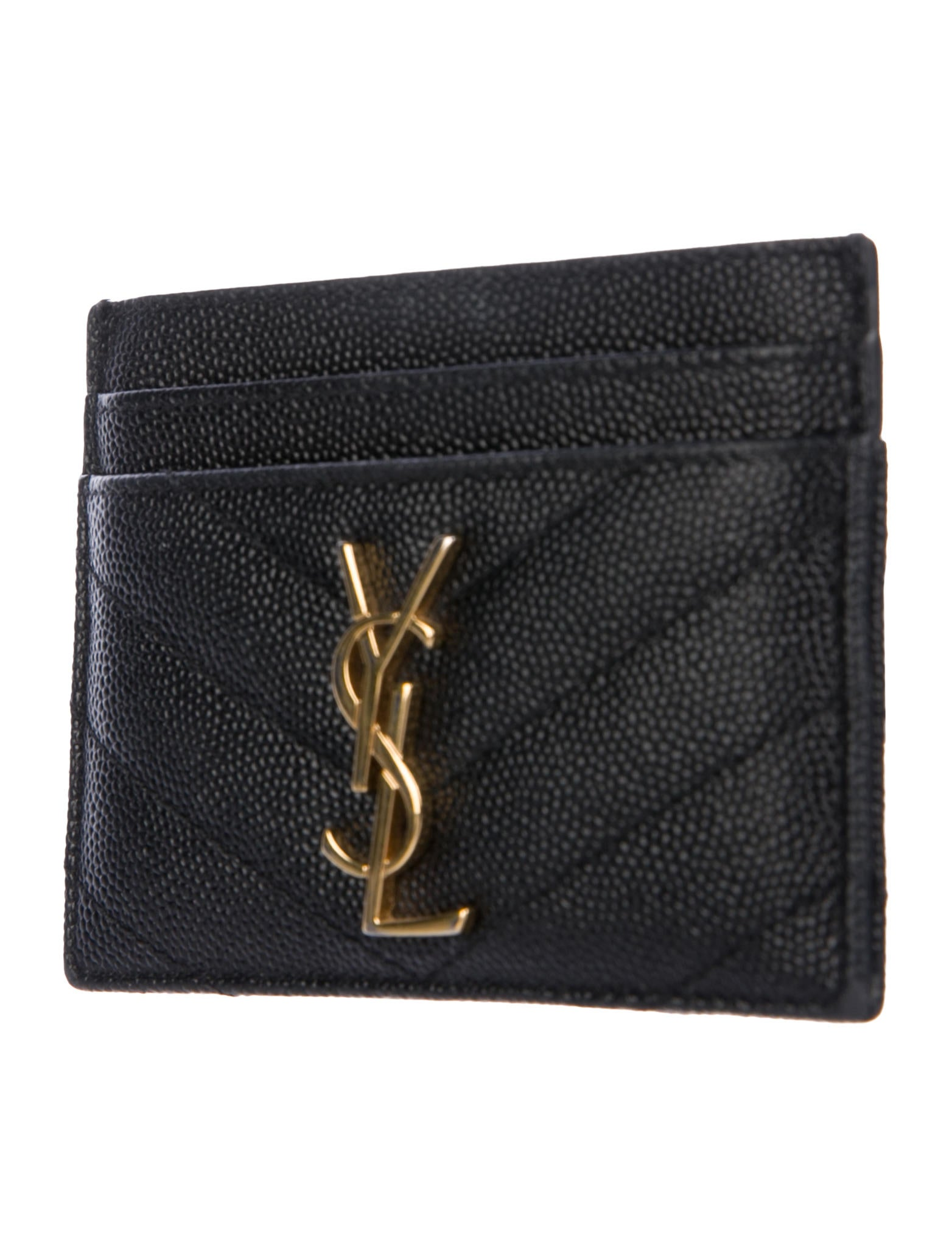 saint laurent monogram card holder wallet accessories snt49597