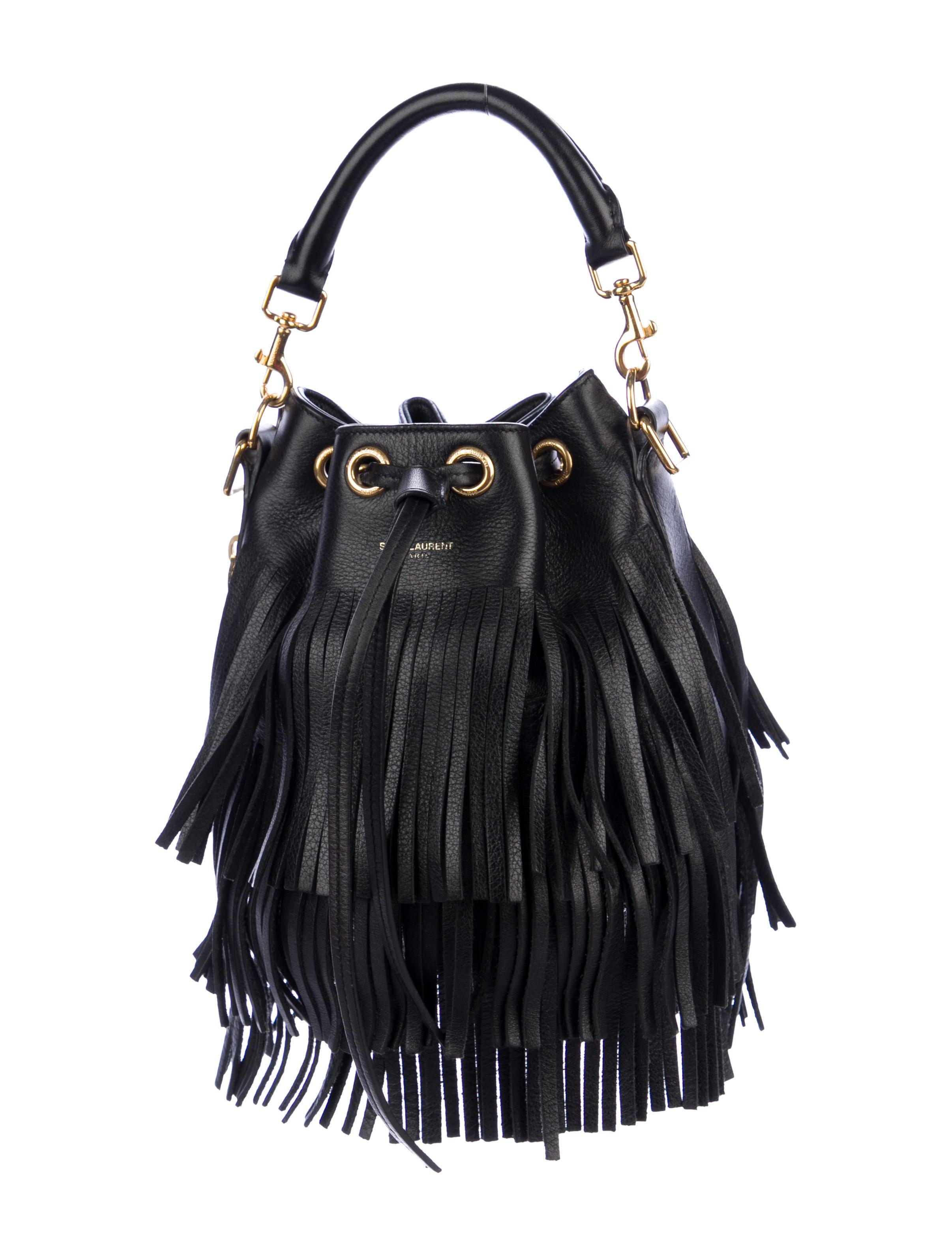 Saint Laurent Small Emmanuelle Fringe Bucket Bag
