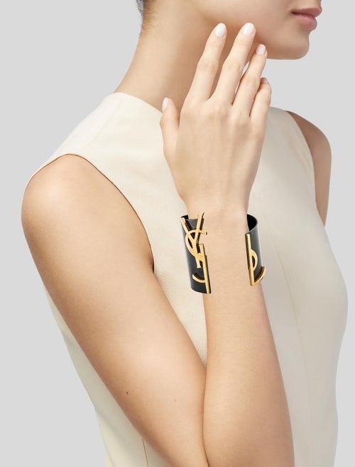 928dc2f61300 Saint Laurent Monogram Split Cuff Bracelet - Bracelets - SNT50480 ...