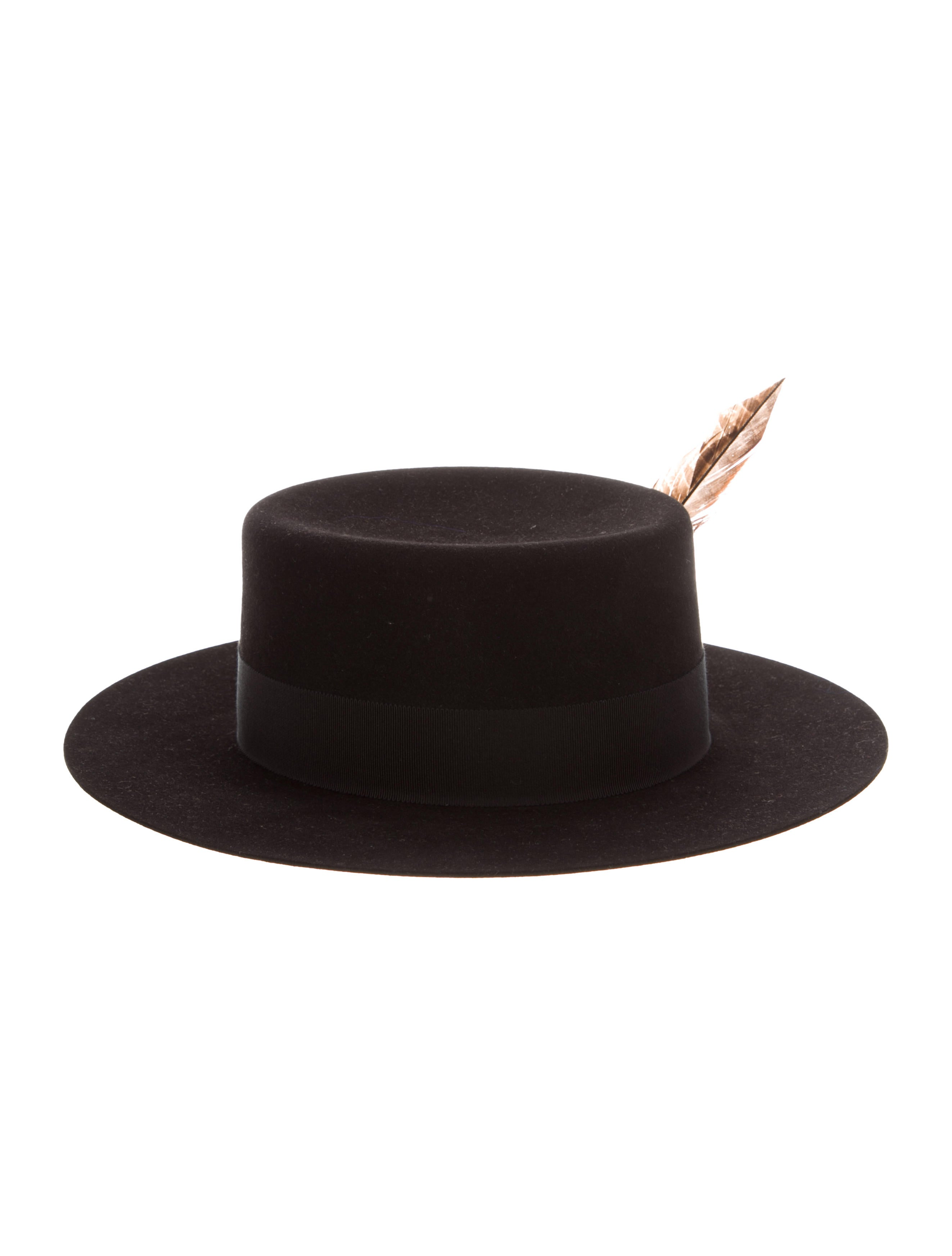 Saint Laurent Felted Suede-Trimmed Fedora w  Tags - Accessories ... 14058091b64