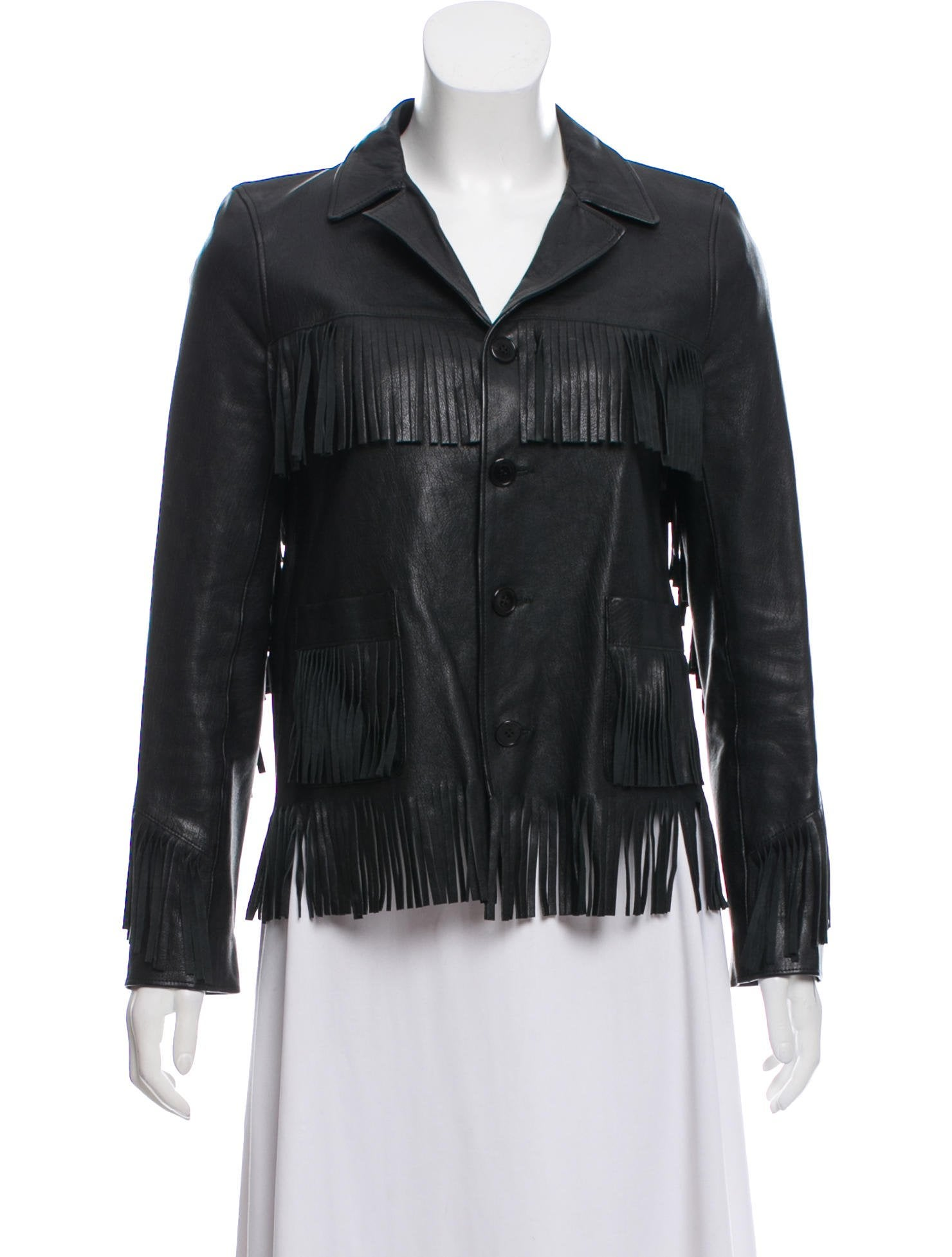 Curtis Leather Jacket by Saint Laurent