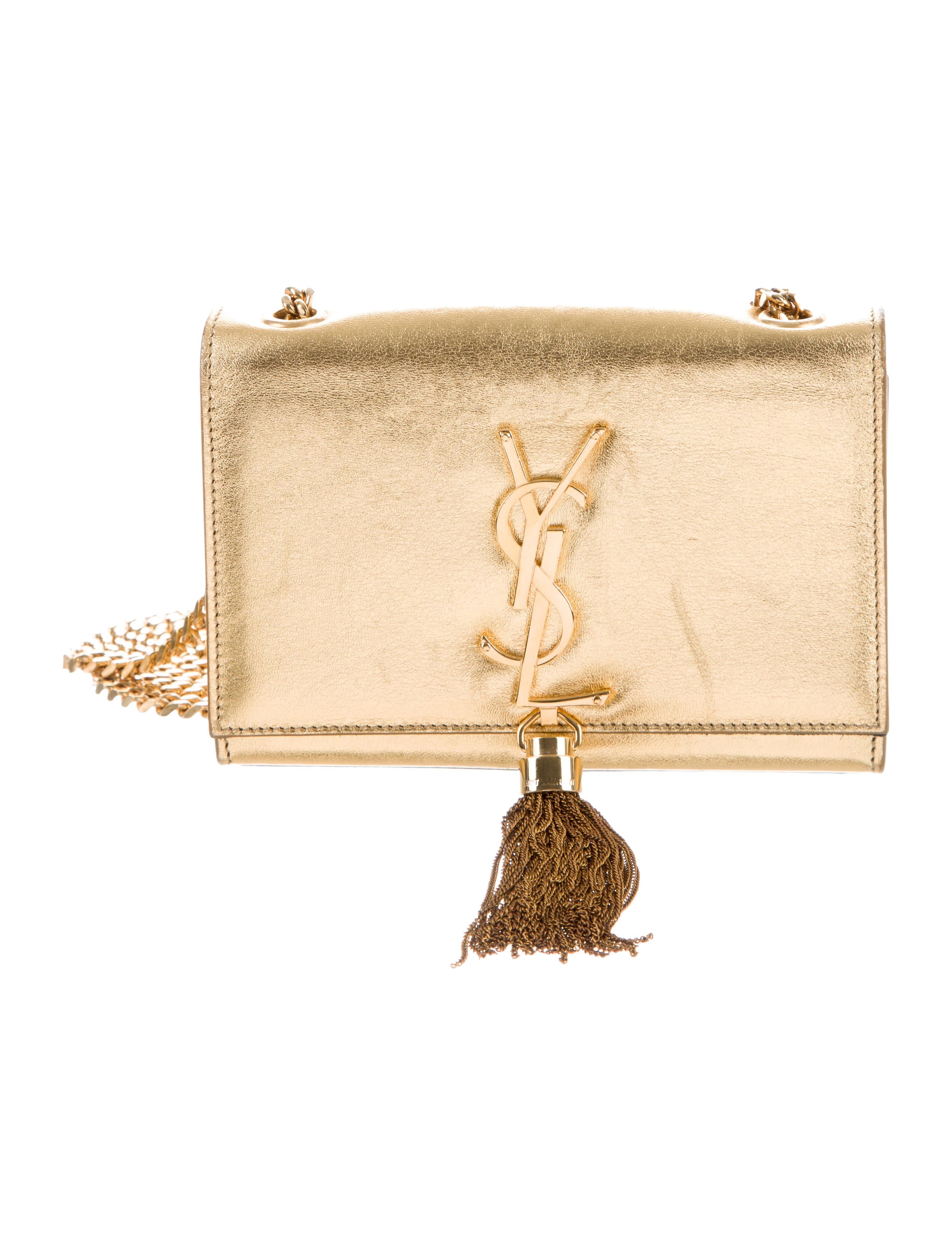 aa4b1a2f308 Saint Laurent Leather Kate Monogram Tassel Bag - Handbags - SNT55162 ...