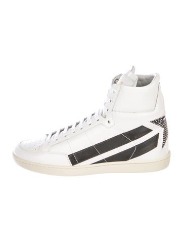 83b66fdc4809 Saint Laurent. SL 36H Star Leather Sneakers ...