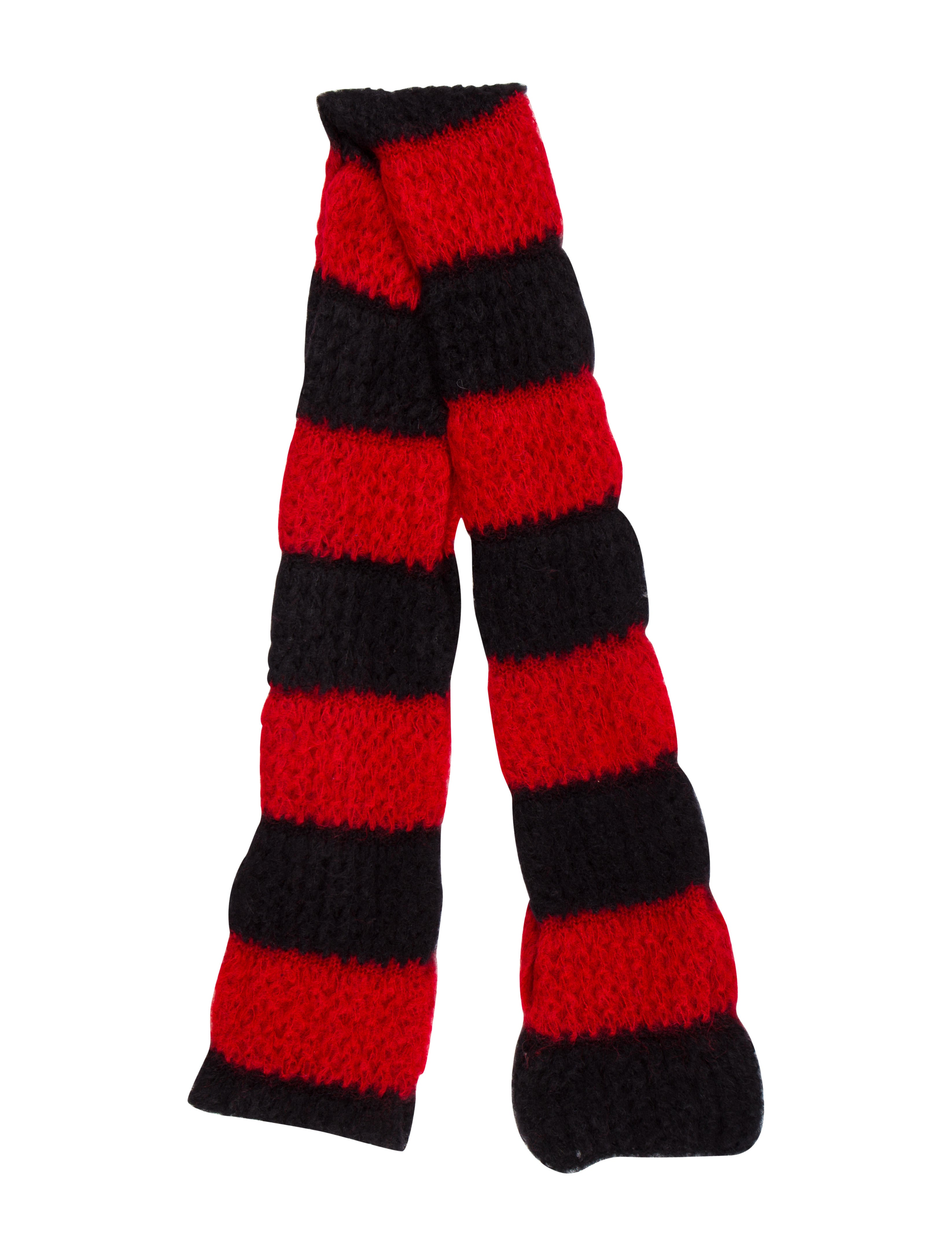 2013 Striped Woven Scarf by Saint Laurent