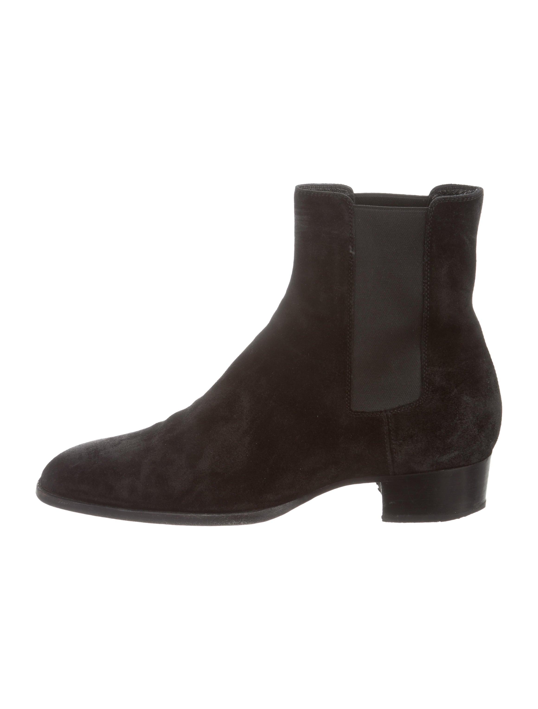 Suede Chelsea Boots by Saint Laurent