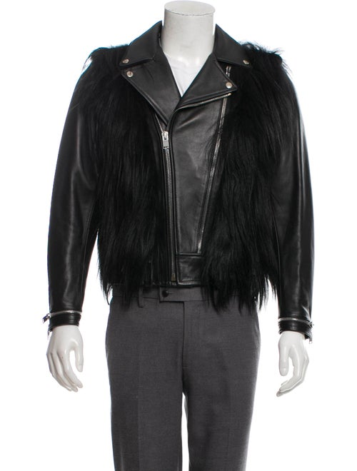 072ebabd9ec Saint Laurent 2013 Goat Hair Leather Moto Jacket - Clothing ...