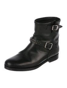 c3f381c9461 Saint Laurent. Leather Ankle Boots