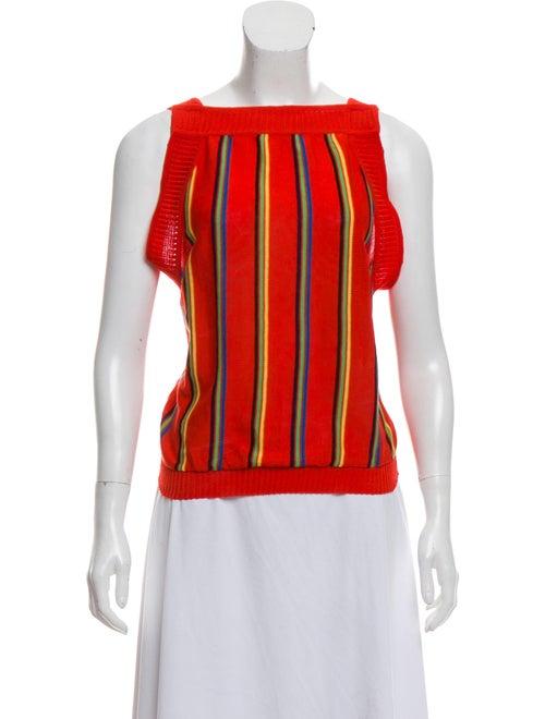 Saint Laurent Sleeveless Sweater Vest multicolor