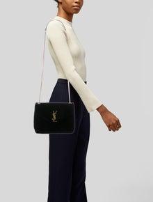 90e0e9d19f7 Saint Laurent. Small Velvet Lou Lou Monogram Chain Bag