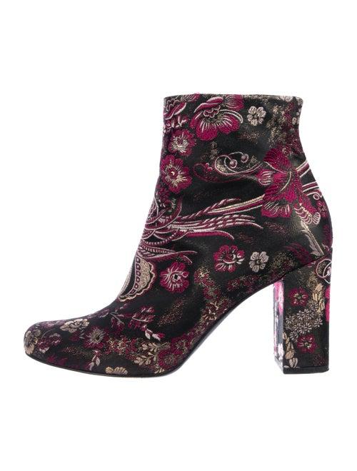 Saint Laurent Brocade Ankle Boots Pink