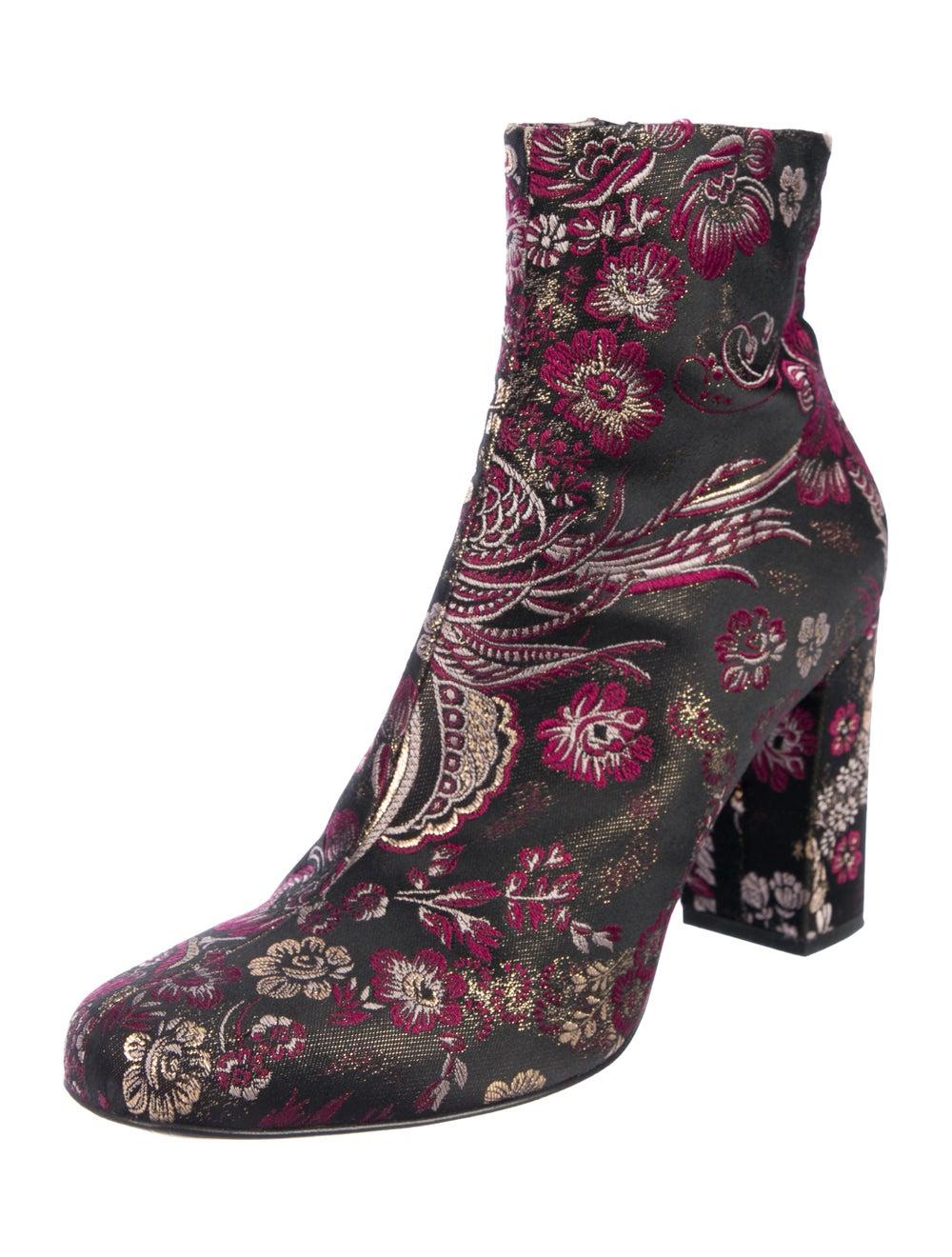 Saint Laurent Brocade Ankle Boots Pink - image 2