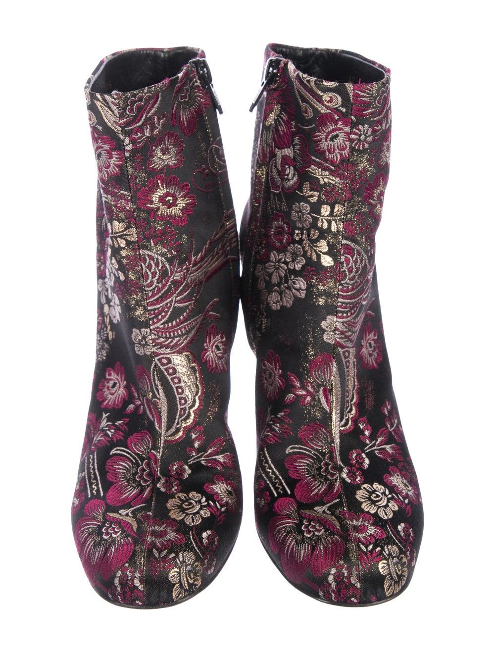 Saint Laurent Brocade Ankle Boots Pink - image 3