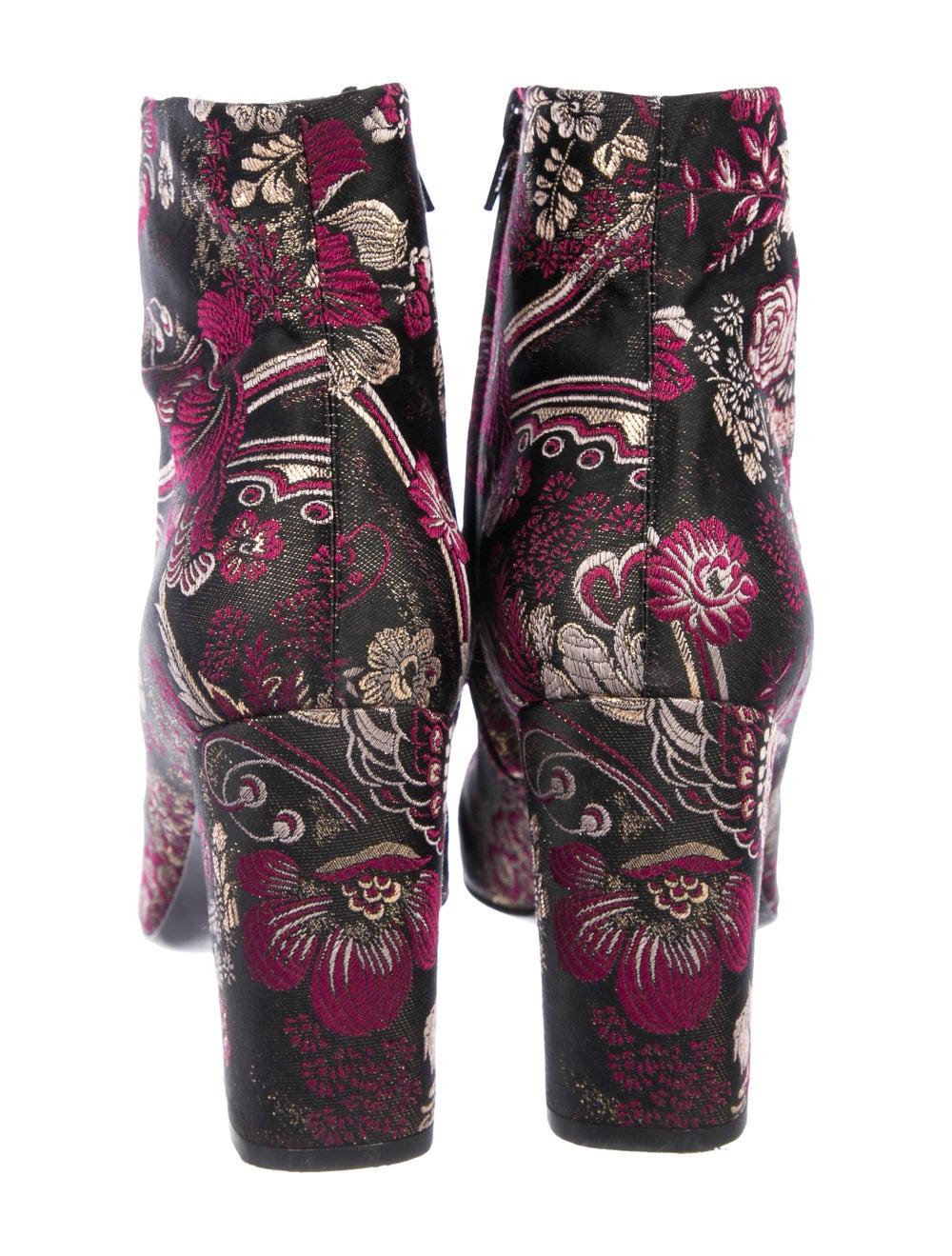 Saint Laurent Brocade Ankle Boots Pink - image 4