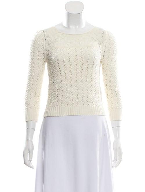Saint Laurent Lace Trim Knit Sweater