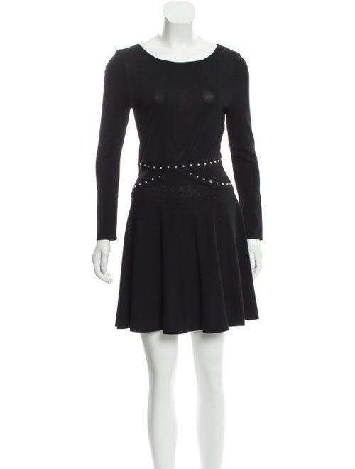 Saint Laurent Studded Mini Dress Black