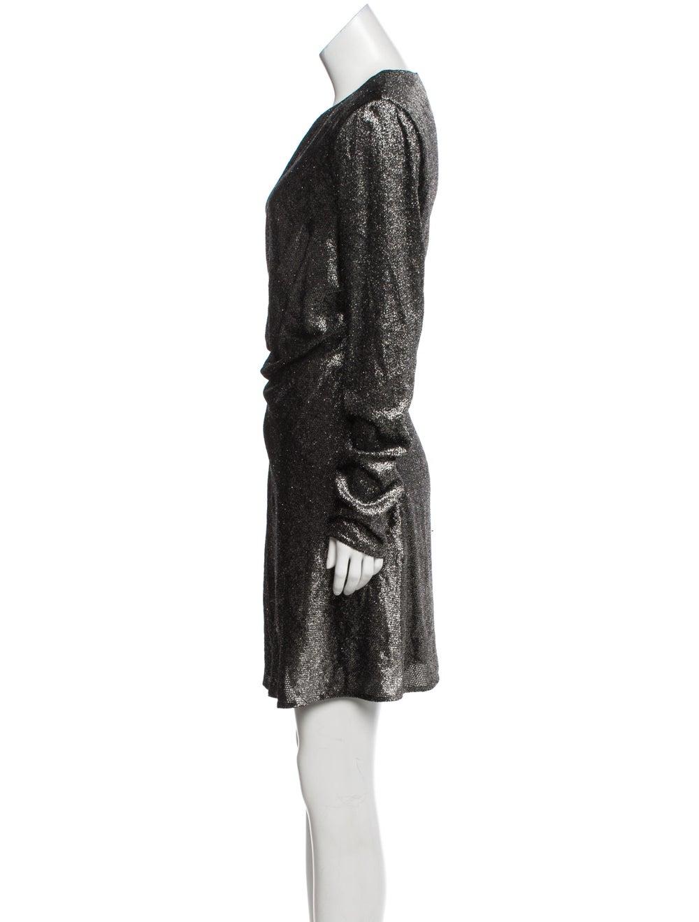 Saint Laurent 2018 Fil Coupé Dress w/ Tags Black - image 2