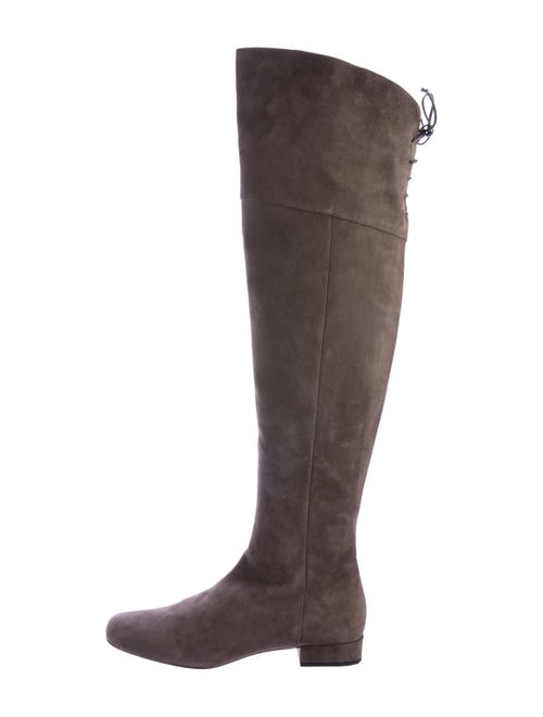 Saint Laurent Suede Over-The-Knee Boots