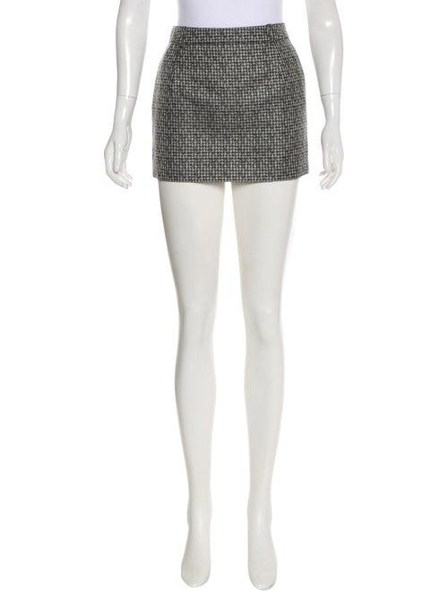 Saint Laurent Silk Mini Skirt Black - image 1
