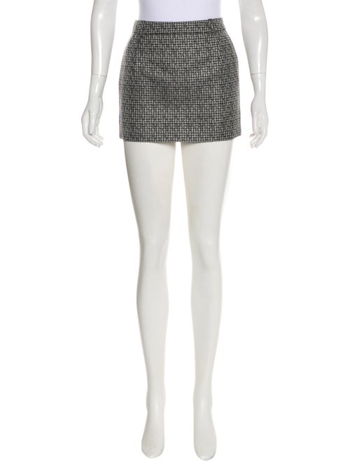 Saint Laurent Silk Mini Skirt Black