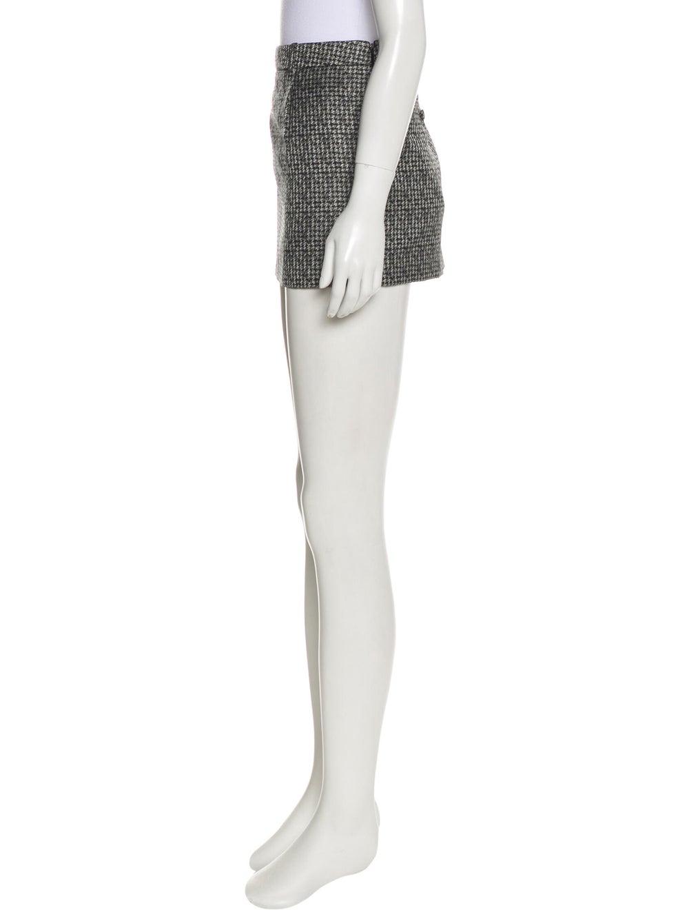 Saint Laurent Silk Mini Skirt Black - image 2