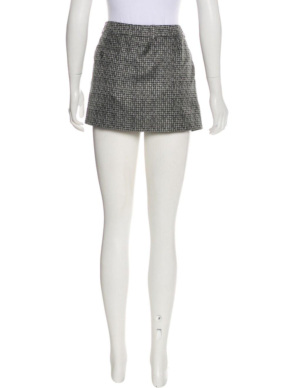 Saint Laurent Silk Mini Skirt Black - image 3