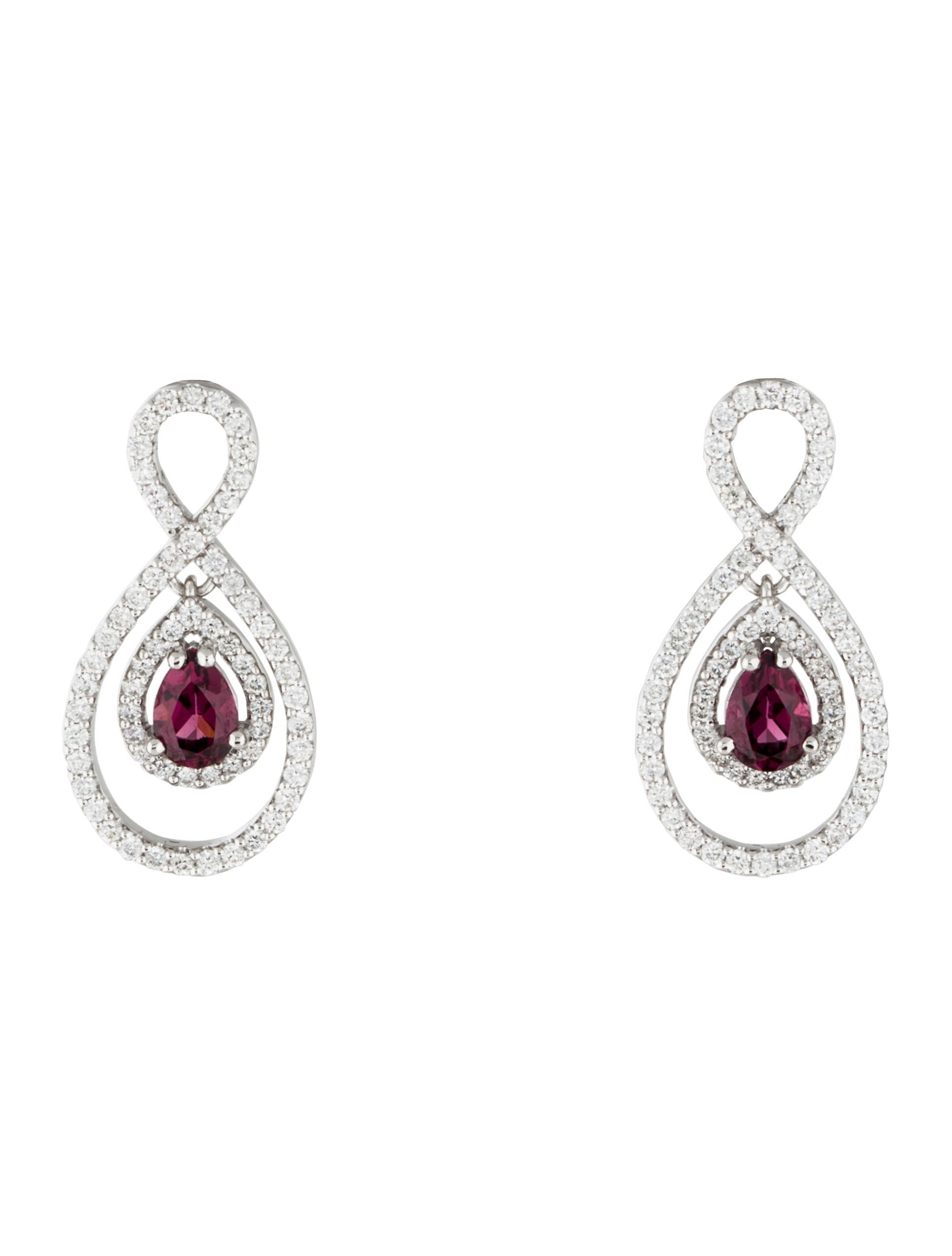 plated drop gold pin and karat garnet earrings moonstone rhodolite