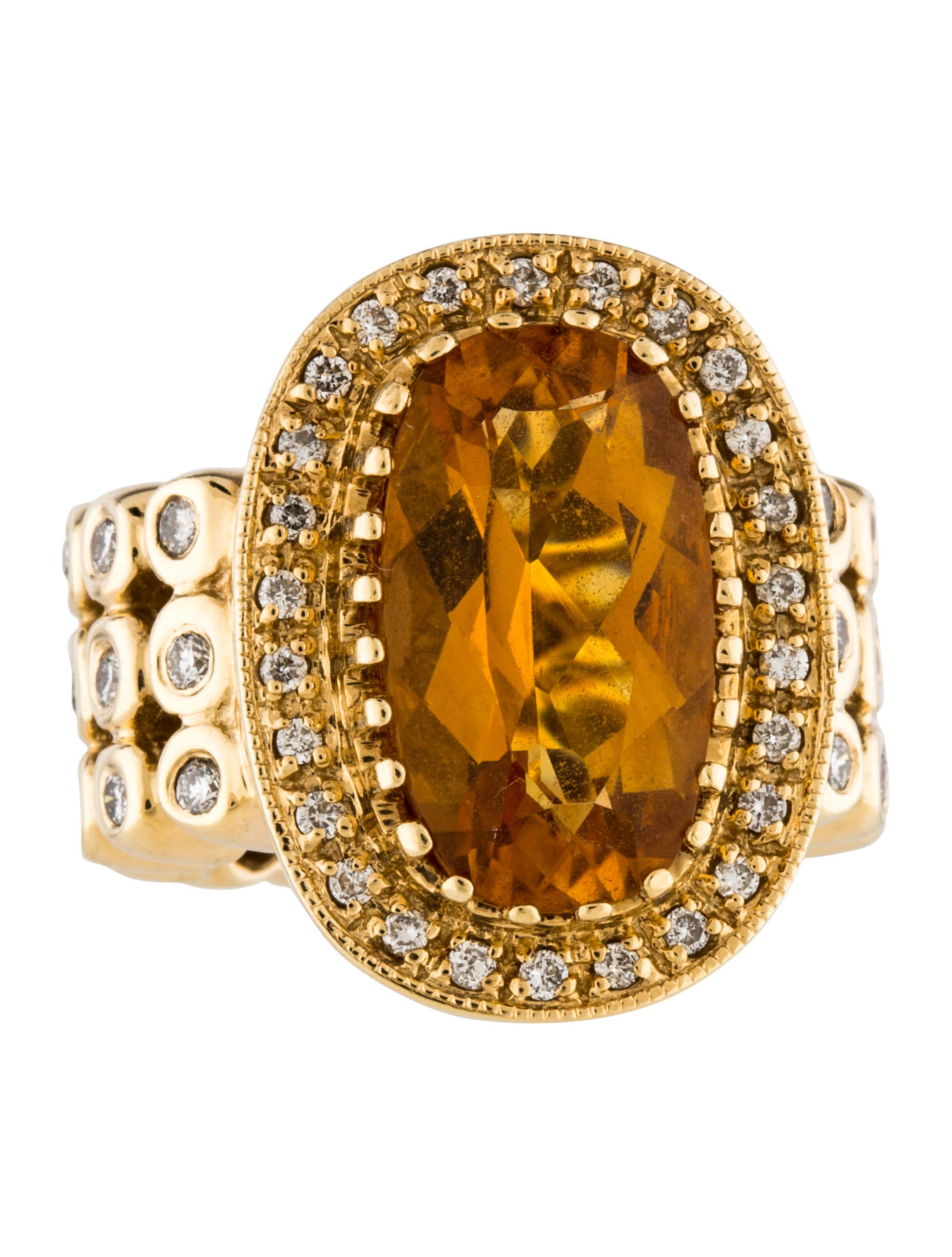 sonia bitton 14k citrine amp diamond cocktail ring rings