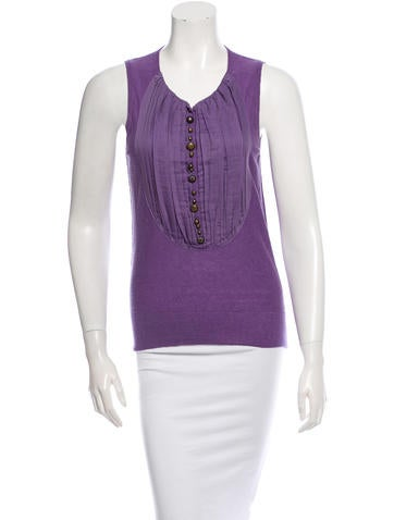 Sonia Rykiel Sleeveless Pleated Top w/ Tags None