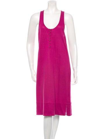 Sonia Rykiel Rib Knit-Trimmed Sleeveless Dress w/ Tags None
